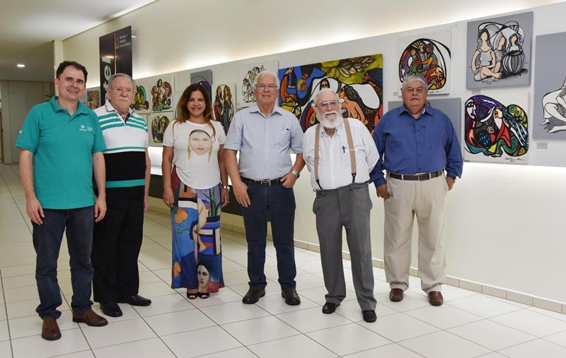 Exposição do Inatel traz obras do artista santa-ritense Rômulo De Marchi